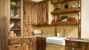 furniture style kitchen cabinets rustic hickory kitchen cabinets solid wood furniture ideas real