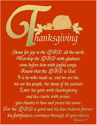 thanksgiving psalm 100 bible verse
