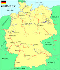 map of germany showing rivers germany waterways map
