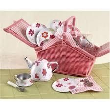 kids picnic basket doll s tin tea set pink picnic basket the childminding shop