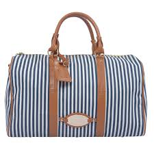 womens travel bags images Large striped short journey pu leather decoration traveling lady jpg