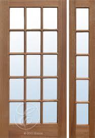 15 Lite Exterior Door Exterior Solid Mahogany Colonial 15 Lite Door Single Pane