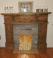 pallet fireplace mantel diy pinterest pallet fireplace