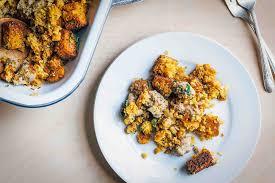 make stuffing day before thanksgiving sausage sage u0026 cornbread stuffing recipe simplyrecipes com