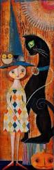 Vintage Halloween Decorating Ideas 150 Best Halloween Mixed Media Images On Pinterest Mixed Media