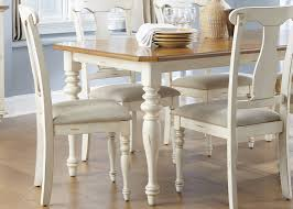 Casual Dining Room Furniture by Casual Dining Table In Bisque With Natural Pine Finish Solid Hardwoods