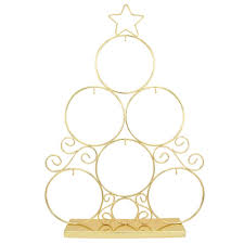 brass tree with 6 ornament display stand stands ornament