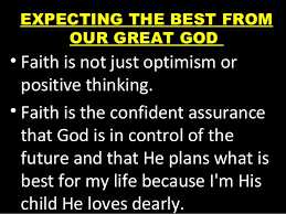 june 7 2015 sunday message expecting the best from god