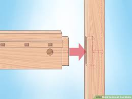 Bed Frame Bolts How To Install Bed Bolts 9 Steps With Pictures Wikihow