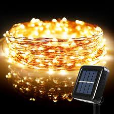 Solar Party Lights 72ft Led String Lights Warm White Torchstar
