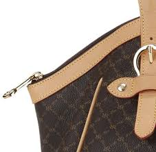 rioni signature brown ruched satchel with buckle st 20252