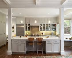 galley kitchens with islands galley kitchen with posts and pass through search kitchen