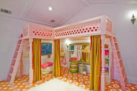 Kid Loft Beds Menlo Park Fantasy Girls U0027 Playroom With Custom Loft Bed Eclectic