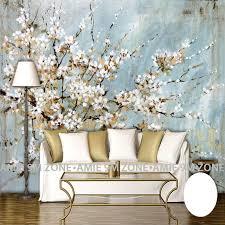 cherry home decor wallpapers wall art cherry blossom hand painting art mural