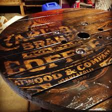 Wire Spool Table Graphic On Hand Made Wire Spool Table Digicom Designs