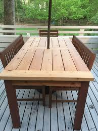 Wood Patio Table Outdoor Cedar Patio Table Create Your Free Maker Profile