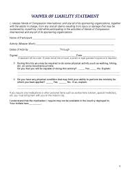 legal liability waiver form printable sample release and waiver