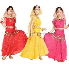 2015 shiny girls kids belly dance costume set bollywood indian