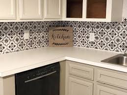 Tile Pattern For Backsplashes Joy Stencils Add Style And Drama To A Kitchen Backsplash Stencil Stories