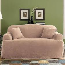 T Cushion Sofa Slipcover by Buy Sure Fit Soft Suede T Cushion Sofa Slipcover In Cheap Price On