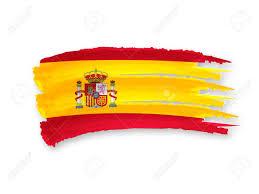 Spanish Flag Illustration Of Isolated Hand Drawn Spanish Flag Stock Photo