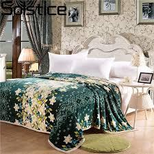 jeter un canapé solstice haute qualité bande vert fleur style hiver chaud
