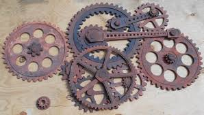 gear wall decoration 3 feet by 5 feet wooden gears