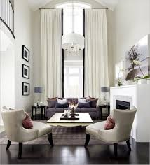 contemporary white living room curtain for high ceiling also grey