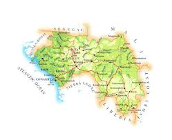 Guinea Africa Map by Maps Of Guinea Detailed Map Of Guinea In English Tourist Map