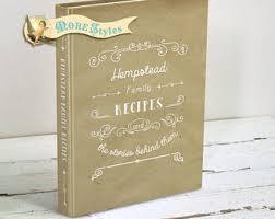 recipe book etsy