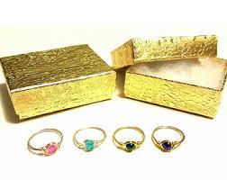 ring with children s birthstones kids rings etsy