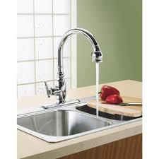 kohler kitchen faucet leaking at base best faucets decoration