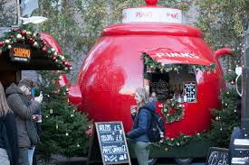 hyde park winter traditional fair with food and drink