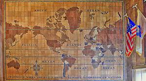 architectural tiles glass and ornamentation in new york the in addition to the ceiling mosaics meiere also designed a wall mural in the lobby made of ceramic tiles the tiles pictured a world map and were executed