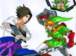 vs sasuke link vs sasuke by mikees on deviantart