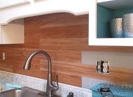 Inexpensive Backsplash Idea  Faux Plank Wall Mom  Real - Vinyl peel and stick backsplash