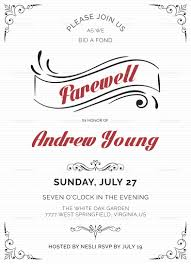 farewell party invitation farewell party invitation design template in word psd