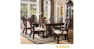 Dining Room End Chairs Amazon Com 7pc Formal Dining Table U0026 Chairs Set With Claw Design