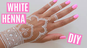 diy white henna youtube