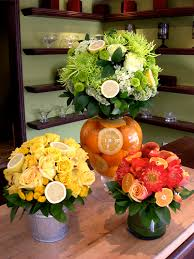 fruit floral arrangements de la citrus fruits flowers