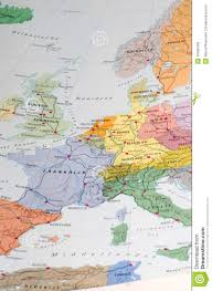 East And West Germany Map by Old Map Of Western Europe Stock Photo Image 44369429
