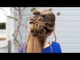 cute girl hairstyles diy brooklyn s double bun half up hairstyle hair hack cute girls