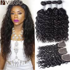 photos of wet and wavy hair virgin peruvian curly hair with closure wet and wavy hair 4 bundles