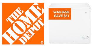 home depot black friday sale on upright freezer home depot ge 7 cu ft chest freezer 168 shipped southern savers