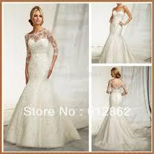 lace 3 4 sleeve wedding dress two beaded mermaid lace 3 4 sleeve wedding dress