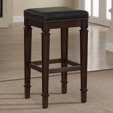 Bar Stool Height Counter Height Backless Bar Stools Made Of Teak Wood In Brown