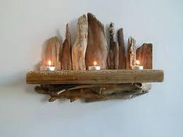 Wooden Wall Sconce Driftwood Candle Shelf Wall Sconce Wall Art Driftwood Sculpture