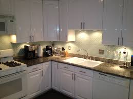 kitchen backsplash arctic ice and under counter lighting from
