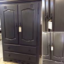 Black Armoire Custom Order New Color Armoire Chalk Painted Black Pepper Color