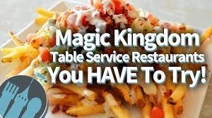Magic Kingdom S Best Table Service Restaurants Youtube